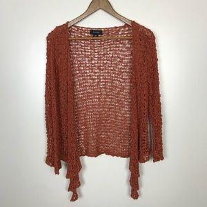 Kaktus open knit burnt orange Cardigan small